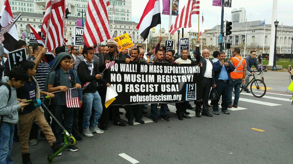 San Francisco: Yemenis March Against Muslim Ban
