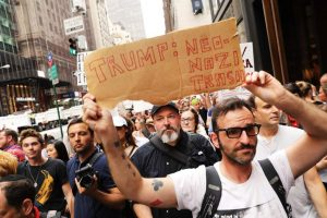 Angry and Defiant Protest Greets Trump's Return to NYC