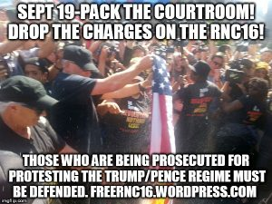 Newsflash, Wednesday 9/13: All Charges Against RNC 16 Felony Defendants Bo and Niko Dropped!