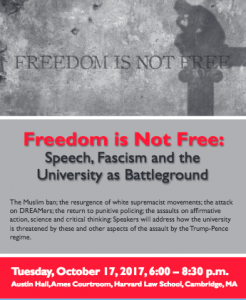 Freedom Is Not Free: Speech, Fascism and the University as Battleground