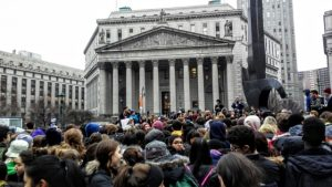 NYC: 100's of Students Walk Out vs. Trump's Muslim Ban
