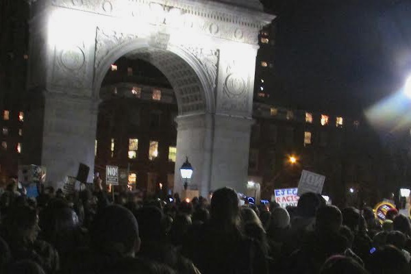 Emergency rally for Muslim and immigrants rights NYC 1-25