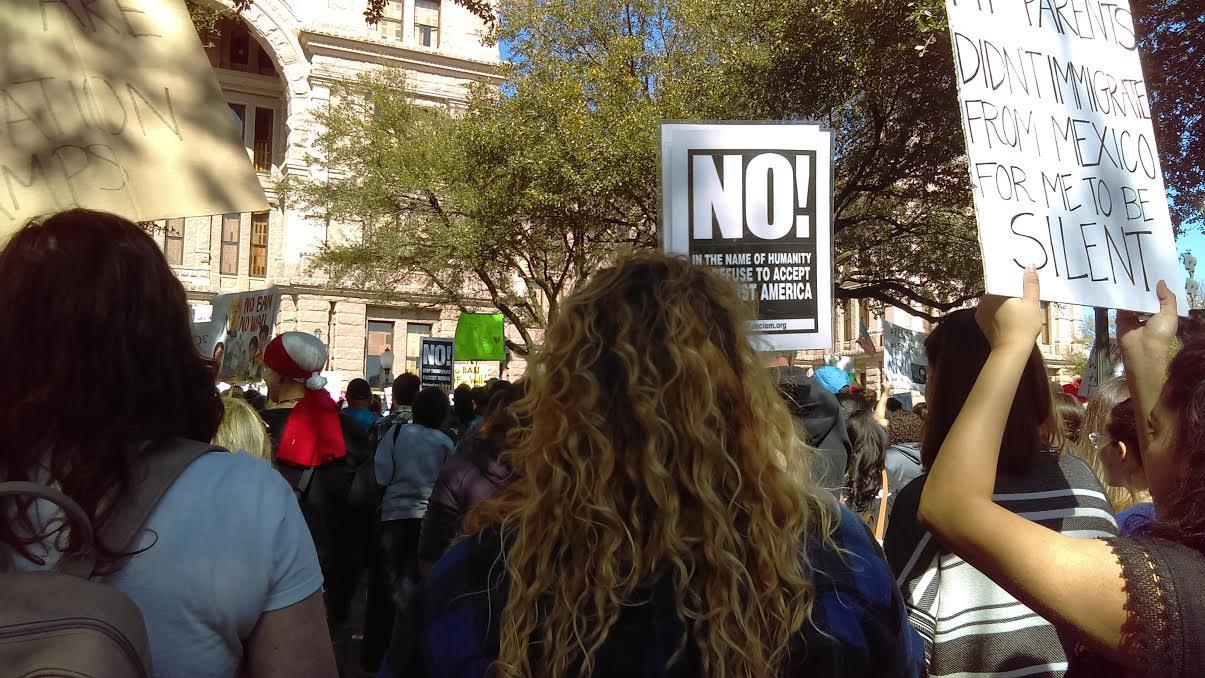 """Austin Tx. - 2,000 Protest at State Capitol: """"No Ban, No Wall"""""""