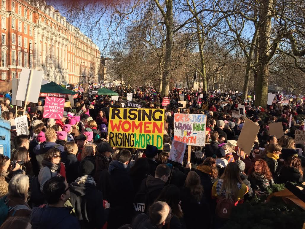 Protesting Trump in London