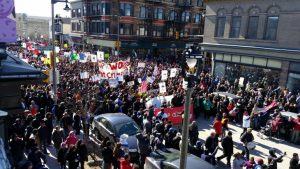 Thousands of Protesters Surge Through Milwaukee Against Attacks on Immigrants