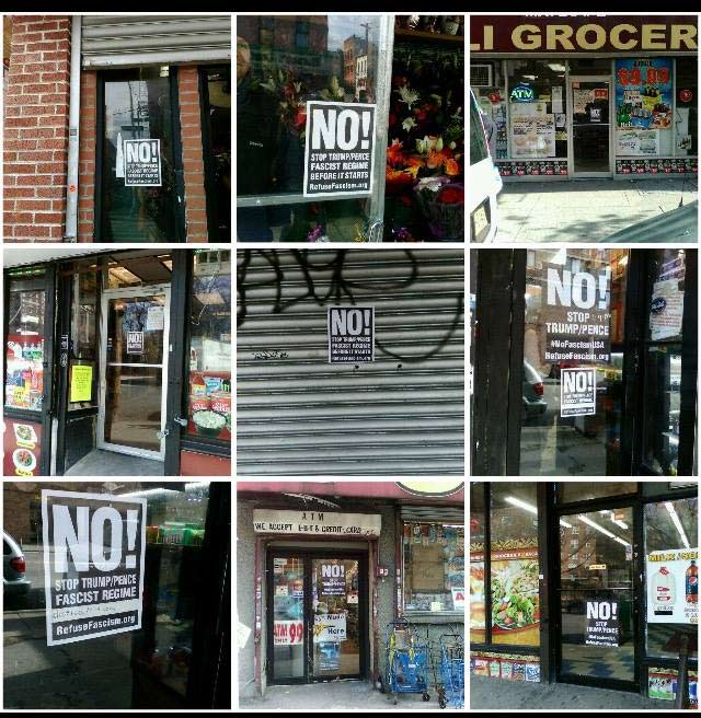 image about Printable Trump Sign referred to as Say No In direction of Trump Pence! Posters towards Protest The Fascist