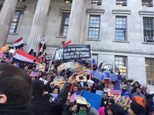 Brooklyn: Yemenis Protest Muslim Ban